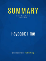 Payback Time (Review and Analysis of Town's Book)