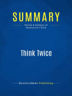Think Twice (Review and Analysis of Mauboussin's Book)