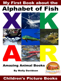 My First Book about the Alphabet of Fish: Amazing Animal Books - Children's Picture Books