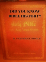 Did You Know About Bible History?