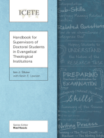 Handbook for Supervisors of Doctoral Students in Evangelical Theological Institutions