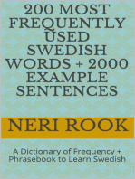 200 Most Frequently Used Swedish Words + 2000 Example Sentences