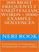 200 Most Frequently Used Italian Words + 2000 Example Sentences