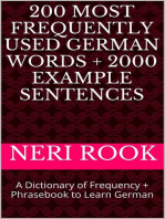 200 Most Frequently Used German Words + 2000 Example Sentences