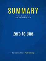 Zero to One (Review and Analysis of Thiel and Masters' Book)