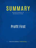 Profit First (Review and Analysis of Michalowicz's Book)