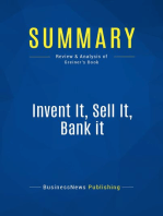 Invent It, Sell It, Bank it (Review and Analysis of Greiner's Book