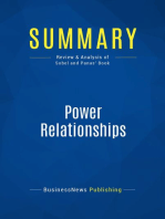 Power Relationships (Review and Analysis of Sobel and Panas' Book)