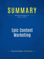 Epic Content Marketing (Review and Analysis of Pulizzi's Book)