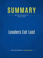 Leaders Eat Last (Review and Analysis of Sinek's Book)
