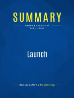 Launch (Review and Analysis of Walker's Book)
