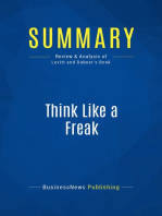Think Like a Freak (Review and Analysis of Levitt and Dubner's Book)
