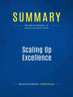 Scaling Up Excellence (Review and Analysis of Sutton and Rao's Book)