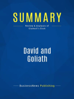 David and Goliath (Review and Analysis of Gladwell's Book)