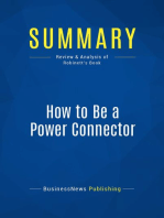 How to Be a Power Connector (Review and Analysis of Robinett's Book)