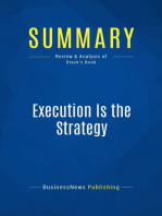 Execution Is the Strategy (Review and Analysis of Stack's Book)