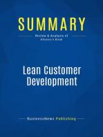 Lean Customer Development (Review and Analysis of Alvarez's Book)