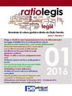 Ratio Legis (Numero 1, Anno 2016)