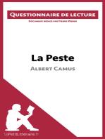 La Peste d'Albert Camus (Questionnaire de lecture)