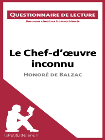 Le Chef-d'œuvre inconnu d'Honoré de Balzac (Questionnaire de lecture): Document rédigé par Florence Meurée