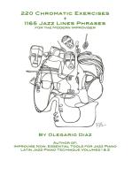220 Chromatic Exercises + 1165 Jazz Lines Phrases for the Modern Improviser