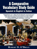 A Comparative Study Guide Spanish to English to Italian