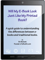 Will My e-Book Look Just Like My Printed Book?