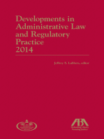 Developments in Administrative Law and Regulatory Practice