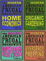 The Modern American Frugal Housewife Books #1-4