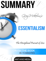 Greg Mckeown's Essentialism