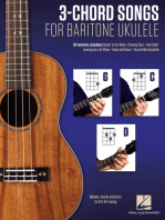 3-Chord Songs for Baritone Ukulele (G-C-D): Melody, Chords and Lyrics for D-G-B-E Tuning
