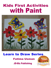 Kids First Activities with Paint