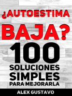 ¿Autoestima baja? 100 soluciones simples para mejorarla