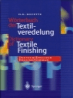 Dictionary of Textile Finishing: Deutsch/Englisch, English/German