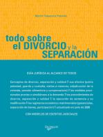 Todo sobre el divorcio y la separación