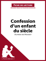 Confession d'un enfant du siècle d'Alfred de Musset (Fiche de lecture)