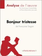 Bonjour tristesse de Françoise Sagan (Analyse de l'oeuvre)