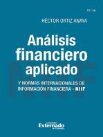 Análisis financiero aplicado y normas internacionales de información financiera - NIIF: 15ª Edición