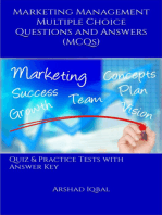Marketing Management Multiple Choice Questions and Answers (MCQs)