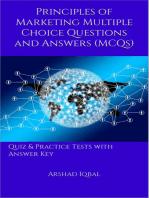 Marketing Principles MCQs
