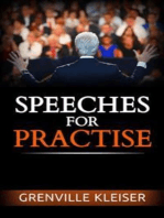 Speeches for Practise