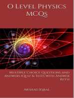 O Level Physics Multiple Choice Questions and Answers (MCQs): Quizzes & Practice Tests with Answer Key (O Level Physics Worksheets & Quick Study Guide)