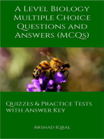 A Level Biology Multiple Choice Questions and Answers (MCQs)
