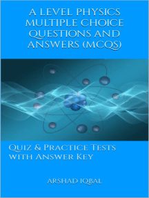 A Level Physics Multiple Choice Questions and Answers (MCQs): Quizzes & Practice Tests with Answer Key