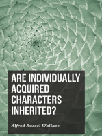 Are Individually Acquired Characters Inherited?