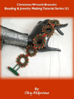 Christmas Wreat Bracelet Beading and Jewelry Making Tutorial