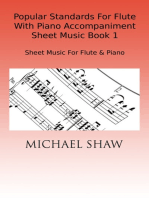 Popular Standards For Flute With Piano Accompaniment Sheet Music Book 1