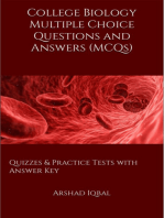 College Biology Multiple Choice Questions and Answers (MCQs)