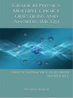 10th Grade Physics MCQs