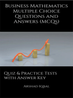 Business Mathematics MCQs: Multiple Choice Questions and Answers (Quiz & Tests with Answer Keys)